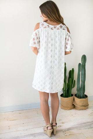 Fresh Petals White Lace Dress