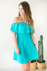 Even Flow Flare Dress - Teal