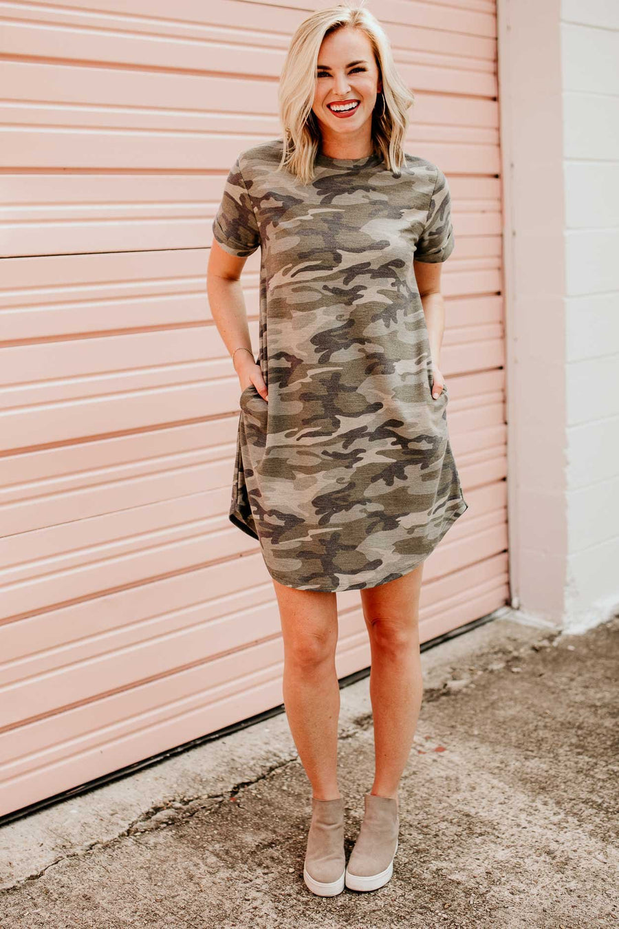 Off The Grid Camo T-shirt Dress