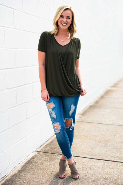 Layered Olive Top