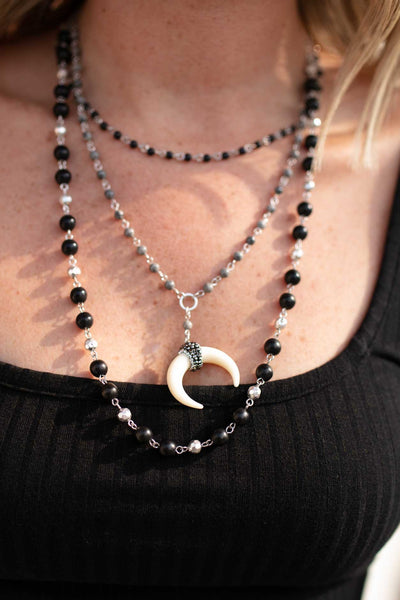 Accessories All Your Dreams Crescent Horn Layered Necklace - Lotus Boutique