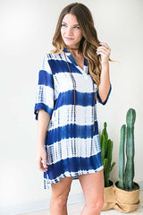Hot Shade Tie Dye Shirt Dress