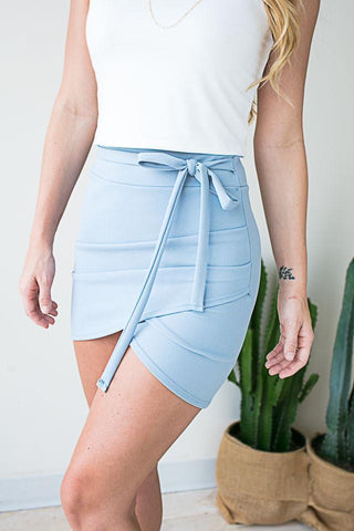 Finer Things Blue Overlap Skirt