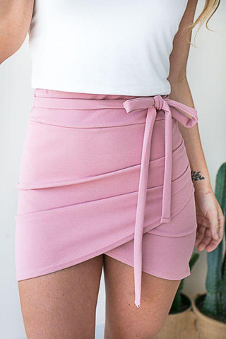 Finer Things Pink Overlap Skirt
