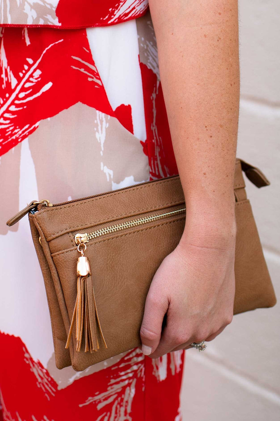 Accessories Every Occasion Camel Cross Body Bag - Lotus Boutique
