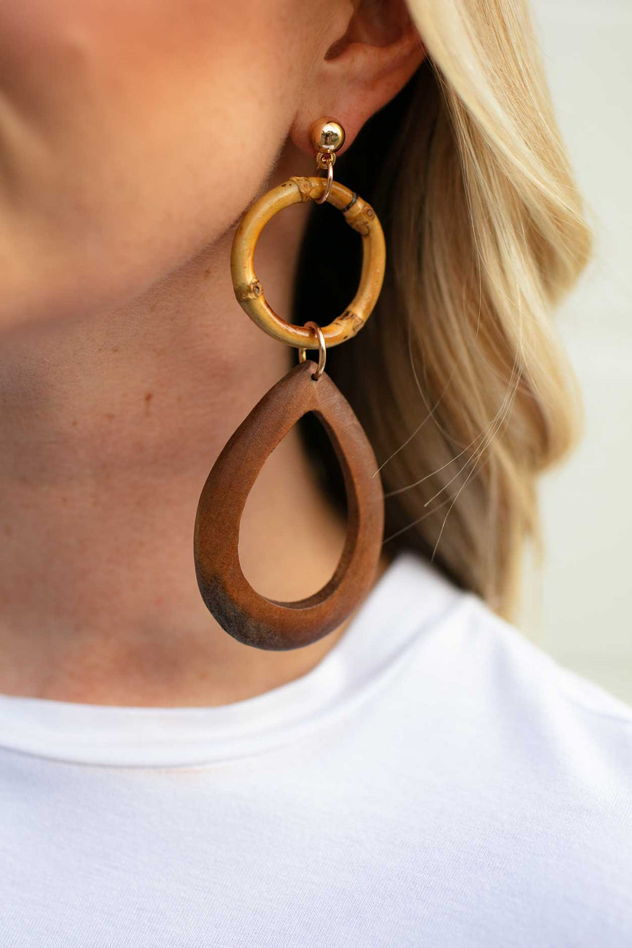 Accessories Have It All Teardrop Wooden Earrings - Lotus Boutique