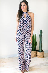 Electric Touch Print Jumpsuit