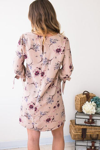Layla Tie Sleeve Floral Dress