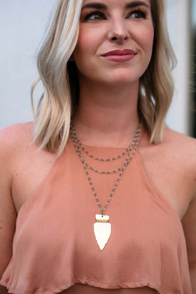 Accessories The One and Only Gold Arrow Head Necklace - Lotus Boutique