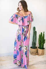 Rosie Off Shoulder Maxi Dress