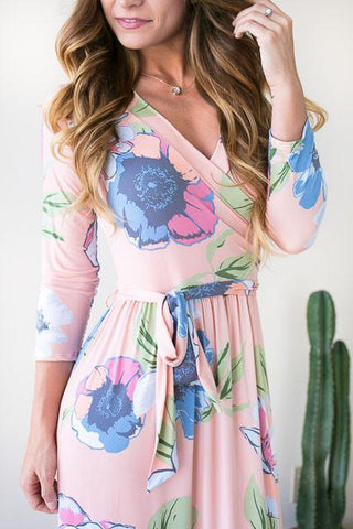 Pastel Skies Floral Maxi Dress