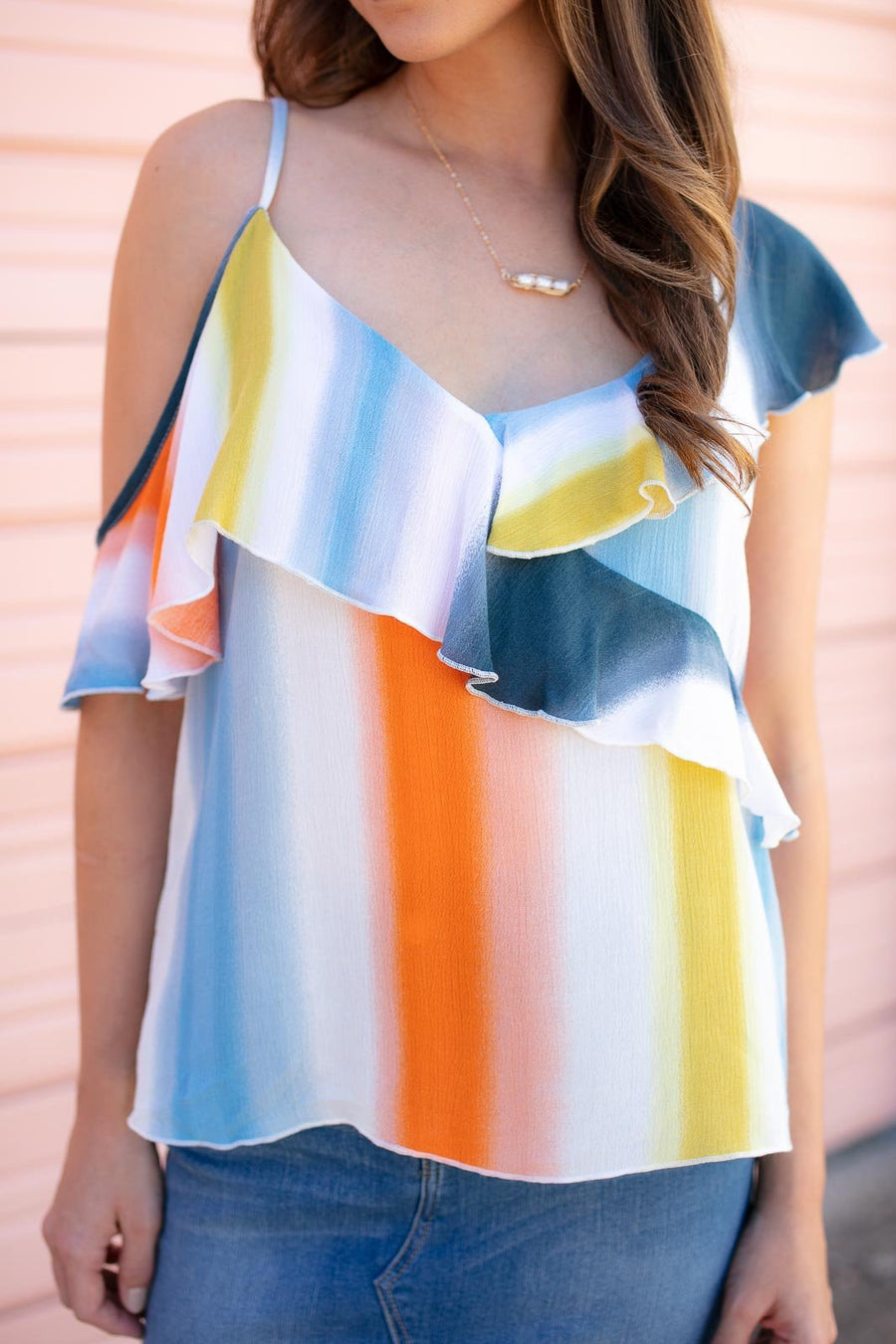 Ombre Stripe Top