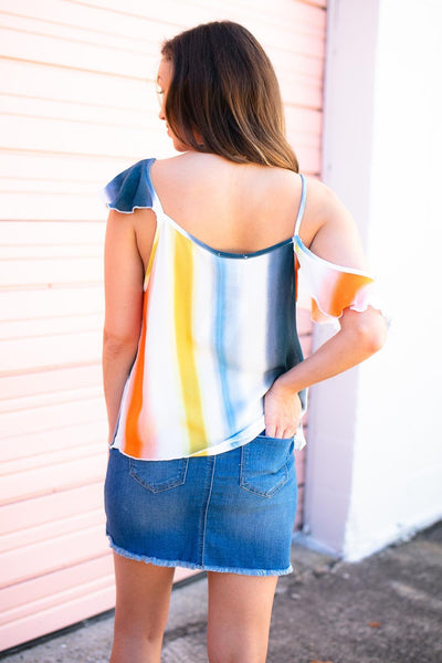 Tops Without the Drama Ombre Stripe Top - Lotus Boutique