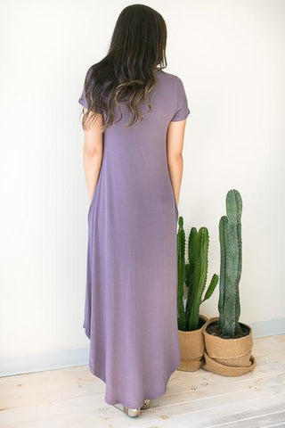 Let Me In T Front Maxi Dress - Purple