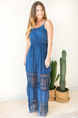 Trimmed with Lace Maxi Dress