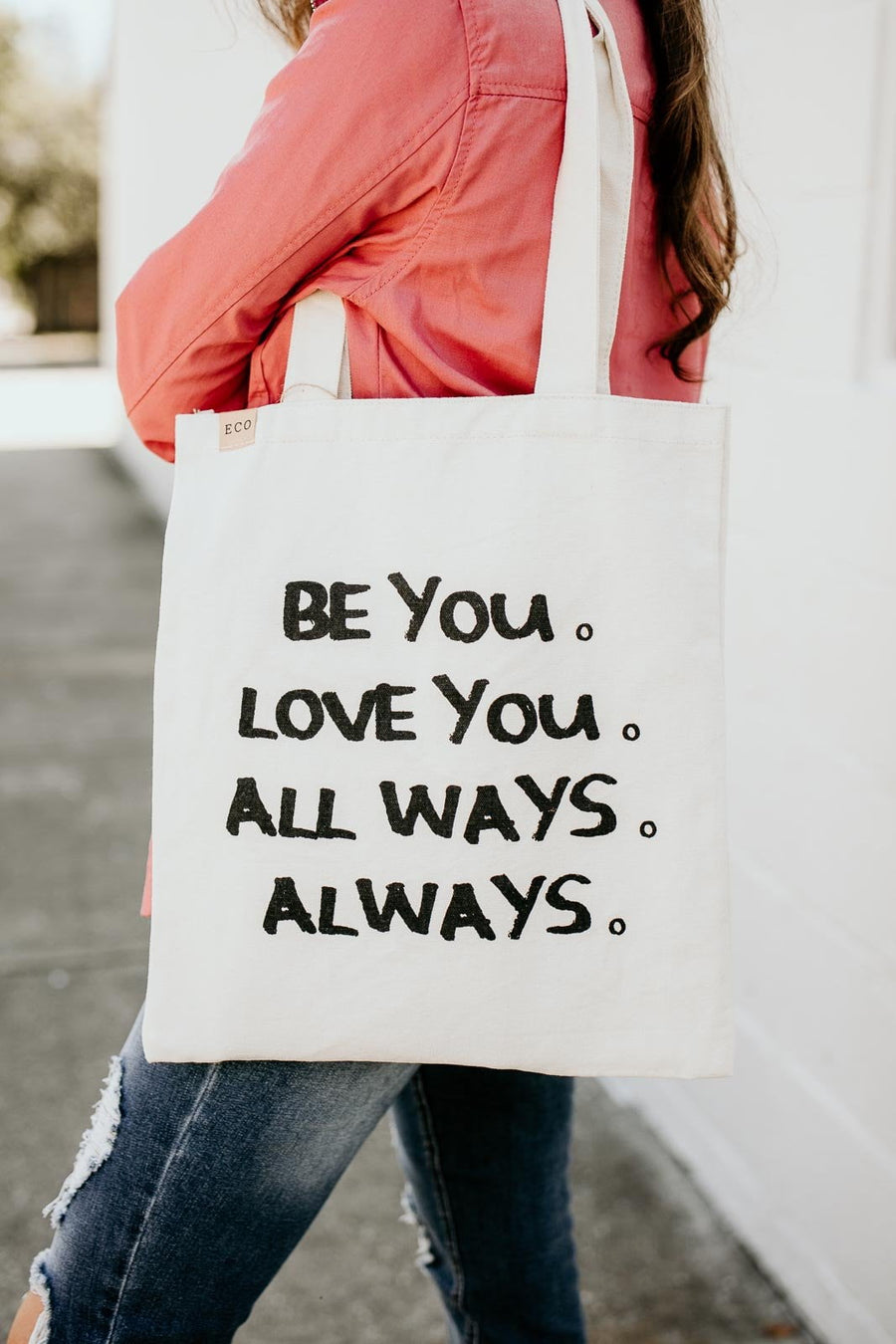 Accessories Be You Canvas Grocery Bag - Lotus Boutique