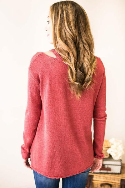 Tops Talk About Cozy Raspberry Sweater - Lotus Boutique