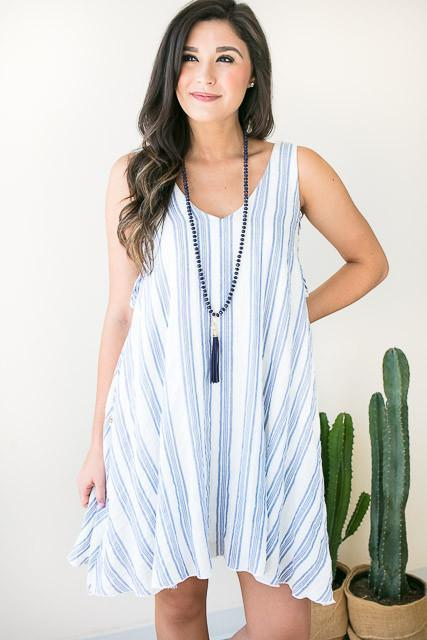 High Tide Lace Up Dress