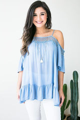 Blessings Crochet Trim Tunic