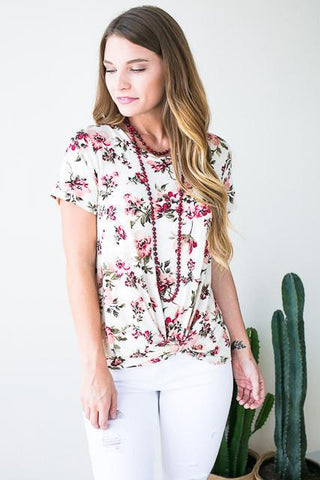 Express Yourself Knot Hem Top
