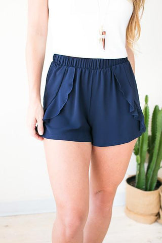 Caught in the Waves Ruffle Shorts