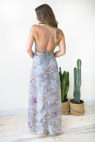 Grey Fields Strappy Maxi Romper