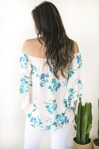 Made For You Floral Off Shoulder Top