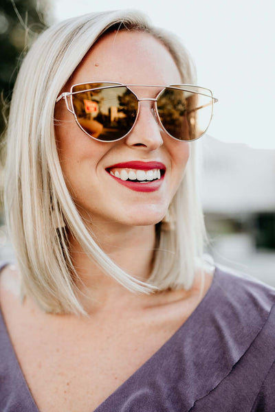Mustard Mirror Sunglasses