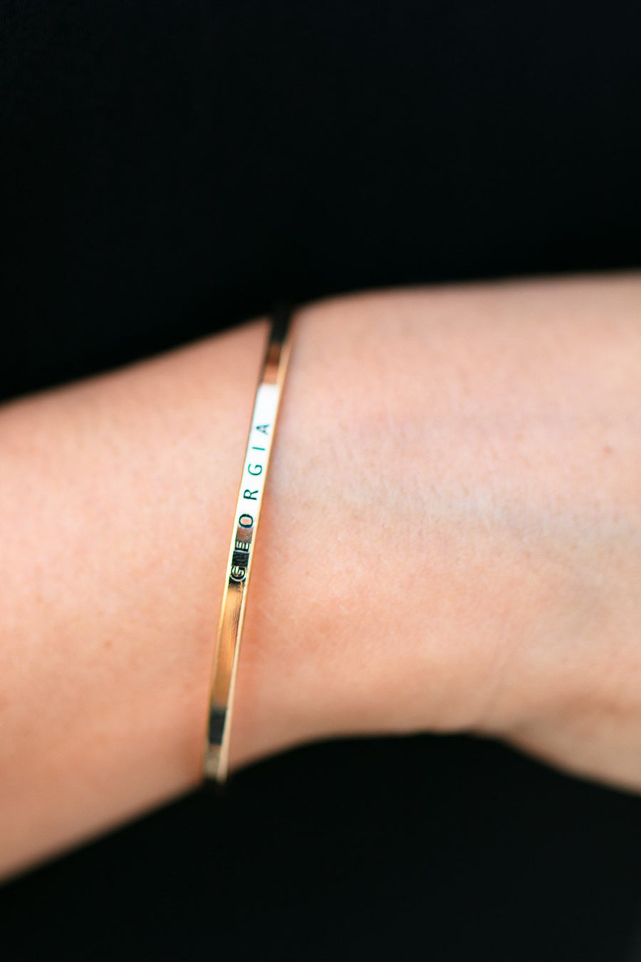 Accessories Georgia Gold Bar Bracelet - Lotus Boutique