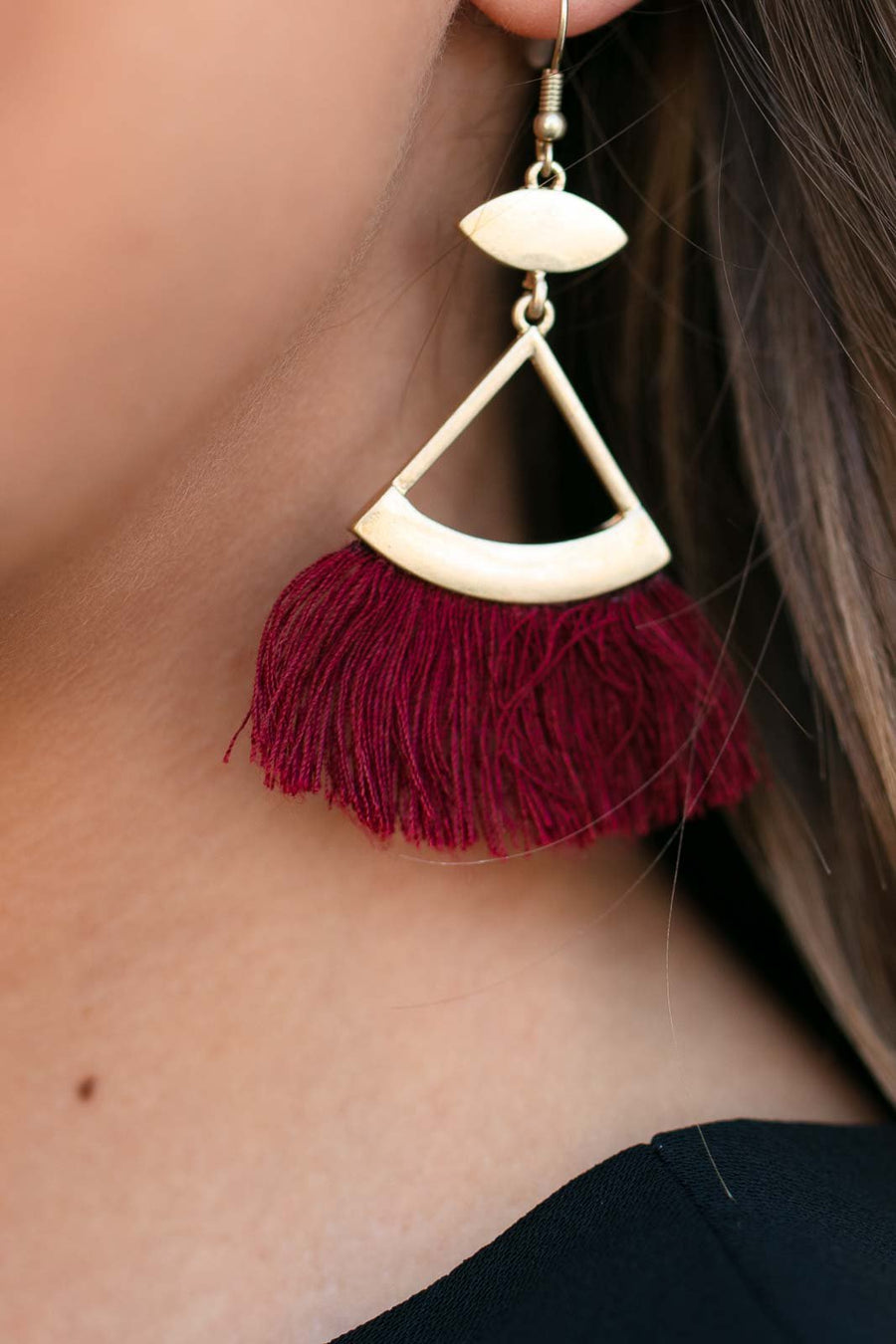 Accessories Run It Triangle Fan Earrings - Lotus Boutique