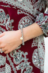 Accessories Stay Hydrated Clear Grey Beaded Bracelet - Lotus Boutique
