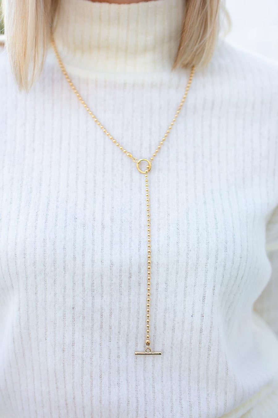 Feel It Still Adjustable Gold Necklace