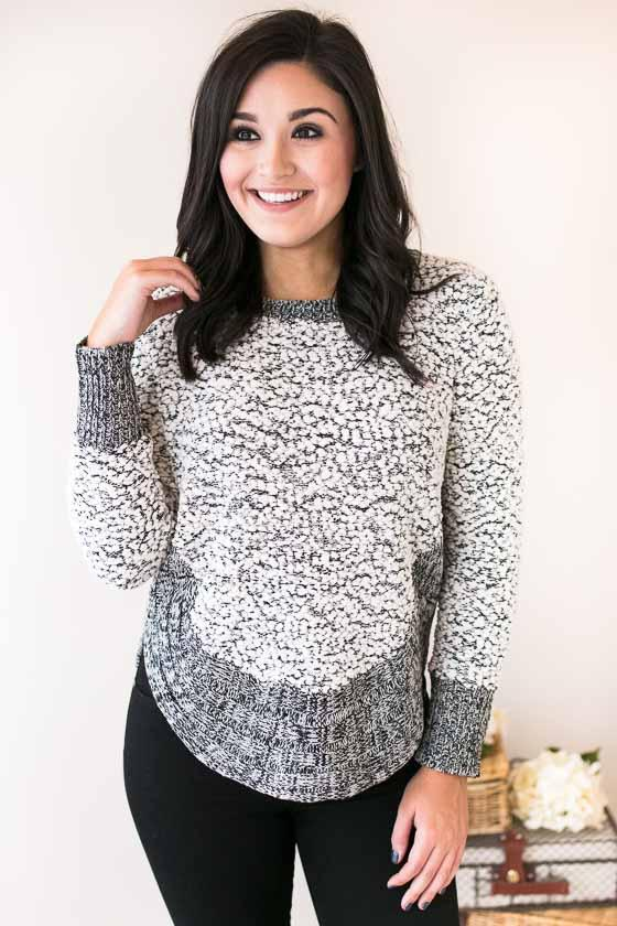 Tops Harvest Moon Fuzzy Sweater Top - Lotus Boutique