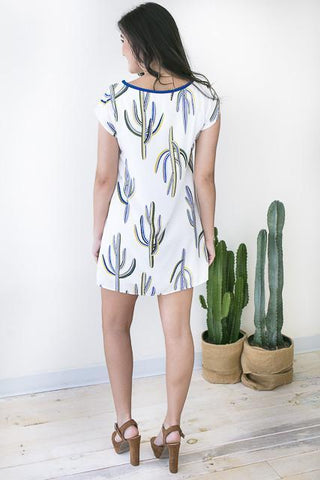 Modern Cactus Shift Dress