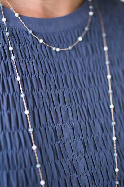 Accessories Gift of the Blue Pearl Necklace - Lotus Boutique