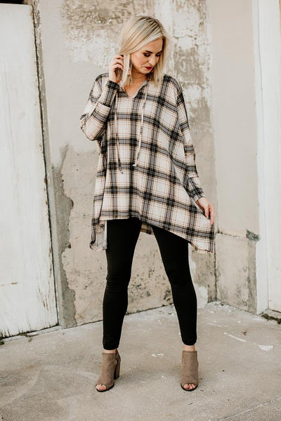 Tops Favorite Time of the Year Plaid Poncho - Lotus Boutique