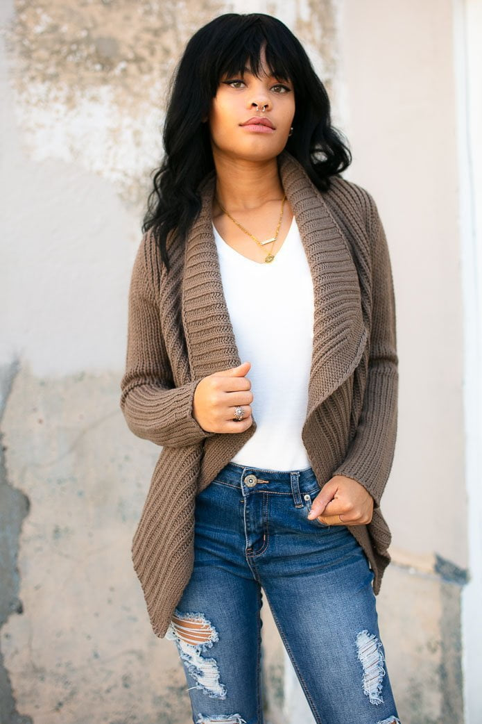 Won't Stop Drape Sweater Cardigan