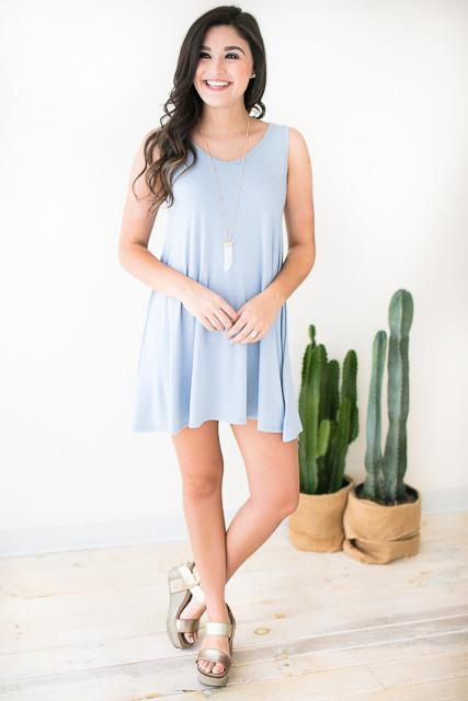 Best Version Tank Dress - Blue