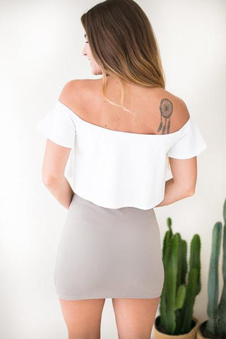 Show It Off Shoulder Crop Top
