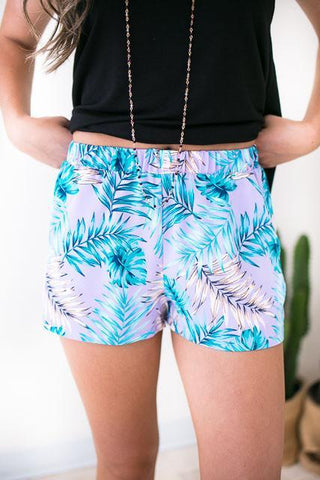 Tropical Element Shorts with Pockets