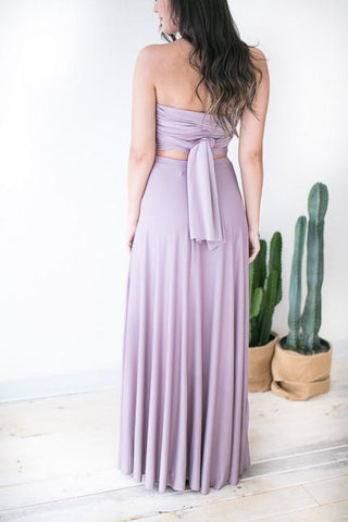 Truffle Maxi Skirt with Slit