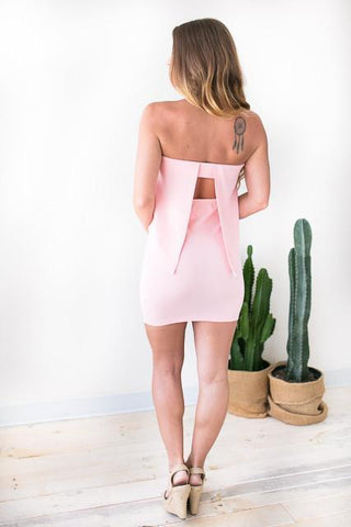Stunning In My Bodycon Dress - Blush