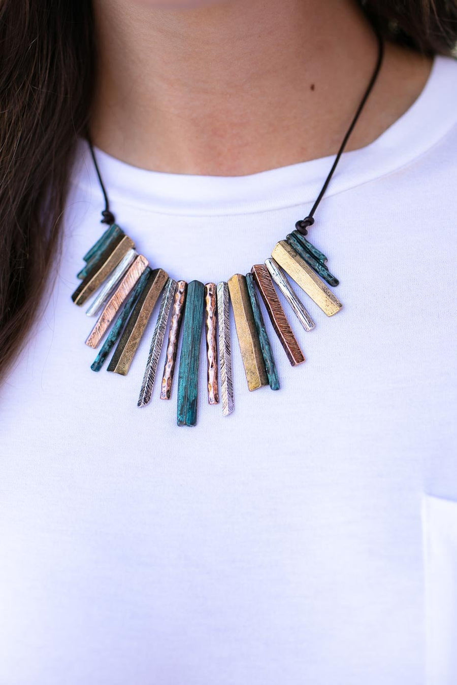 Accessories Mixed Metals Statement Necklace - Lotus Boutique