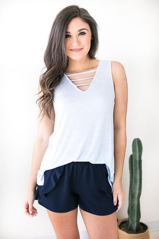 Ultralife Strappy Tank - Light Blue