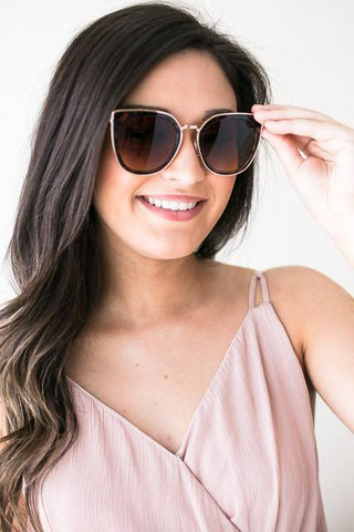 Bright Rays Cat Eye Shades - Brown