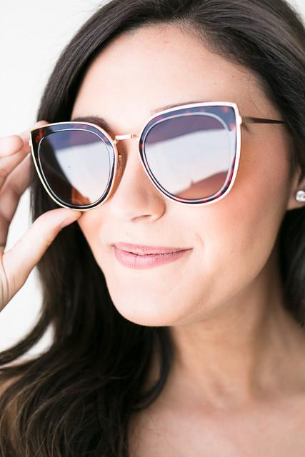 Accessories Bright Rays Cat Eye Shades - Brown - Lotus Boutique