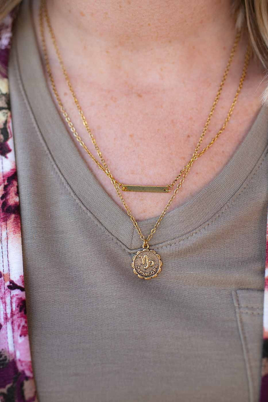 Astrology Sign Layered Necklace