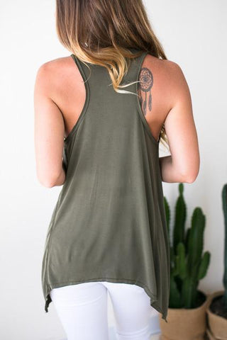 In Control Racer Back Tank - Olive