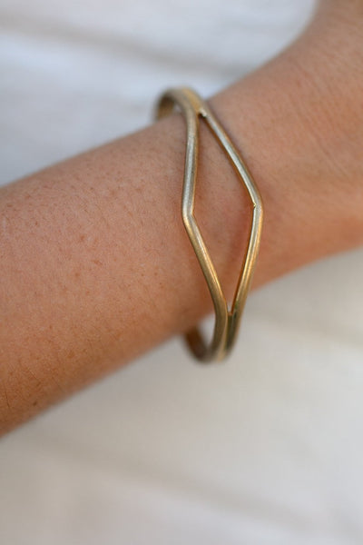 Cut Out Gold Bracelet