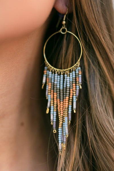 Accessories Your Own Person Beaded Tassel Earrings - Lotus Boutique